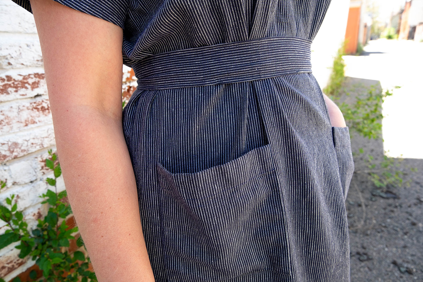 Close view of wiksten maxi dress