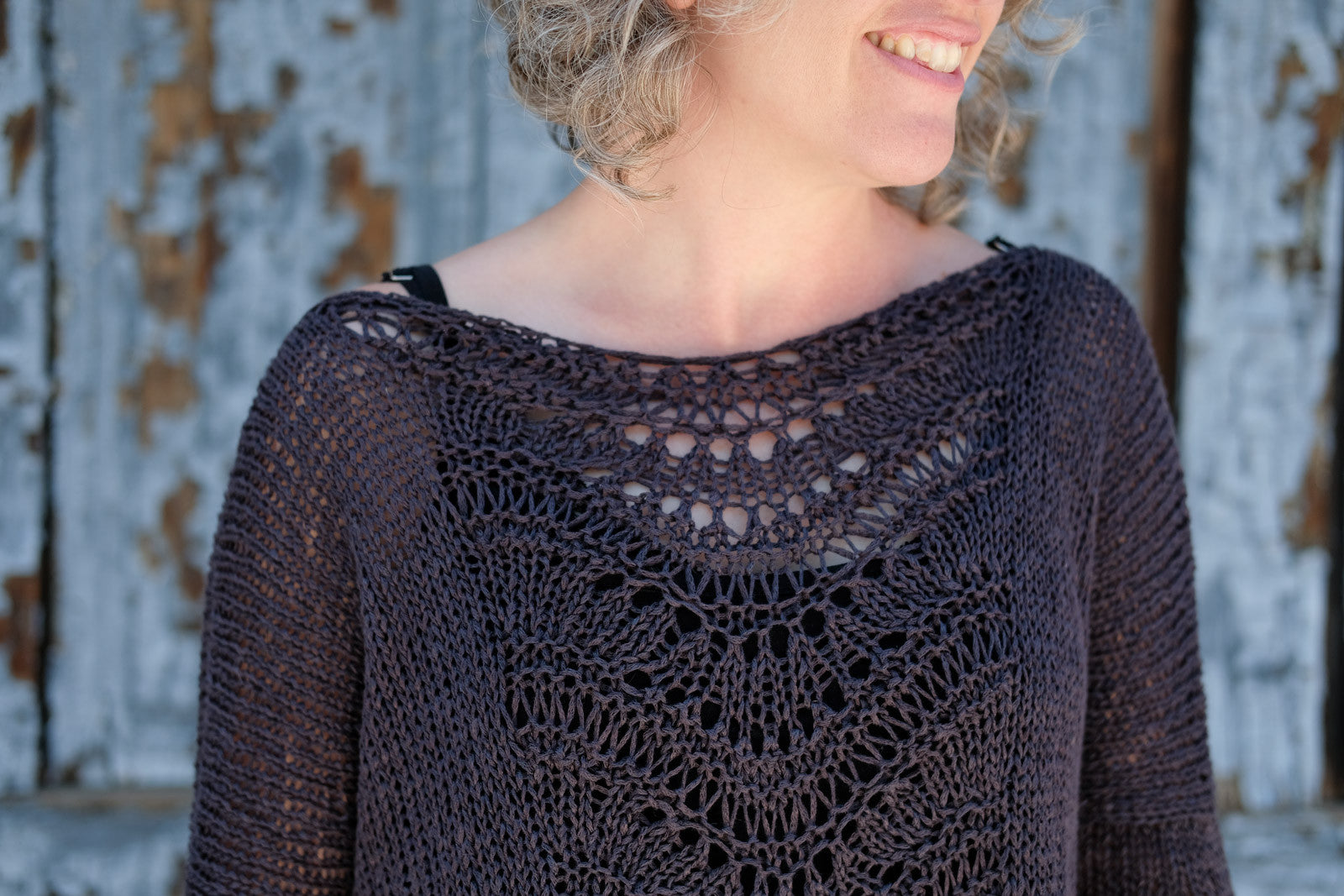 Neckline of the Deschain Sweater