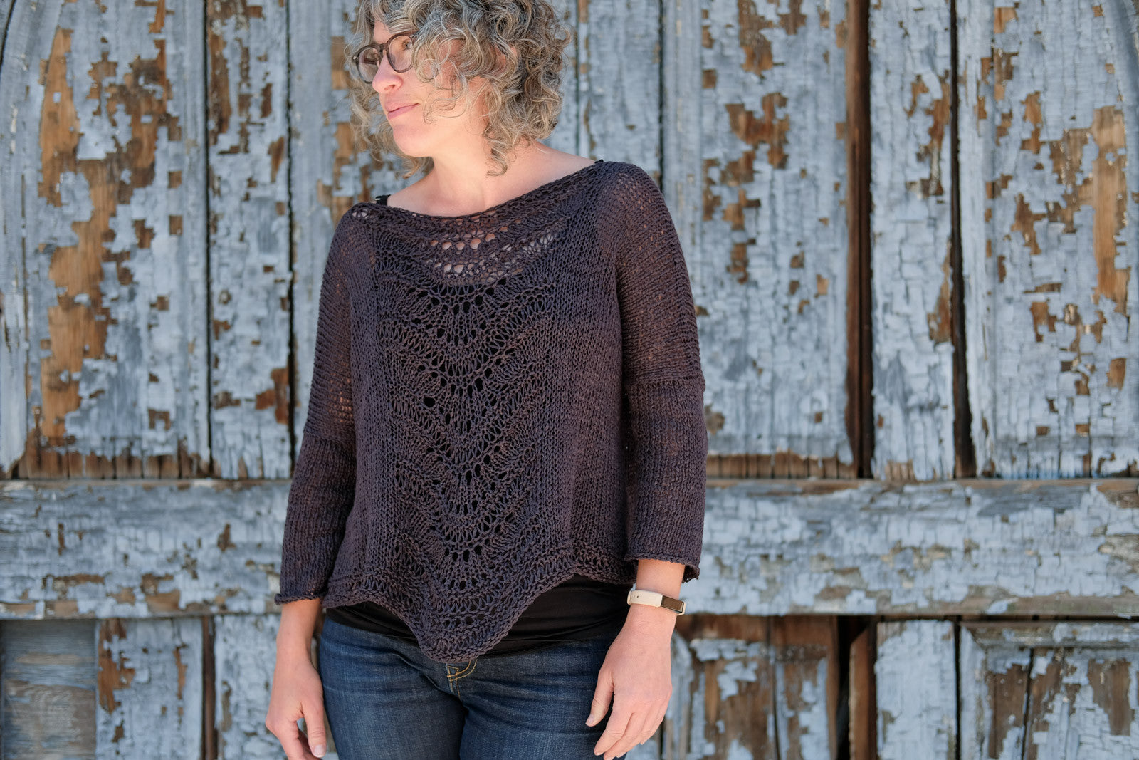 Jaime Jennings in her Deschain Sweater