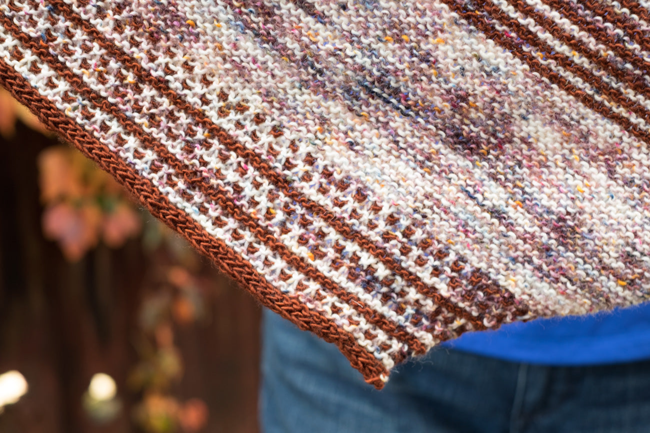 Detail of the Drachenfels Shawl