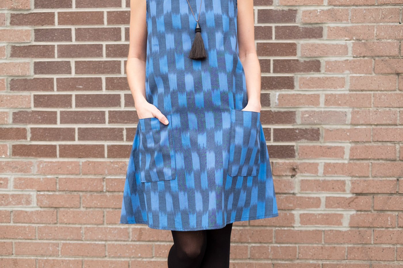 Dress No 1 in Andover woven ikat