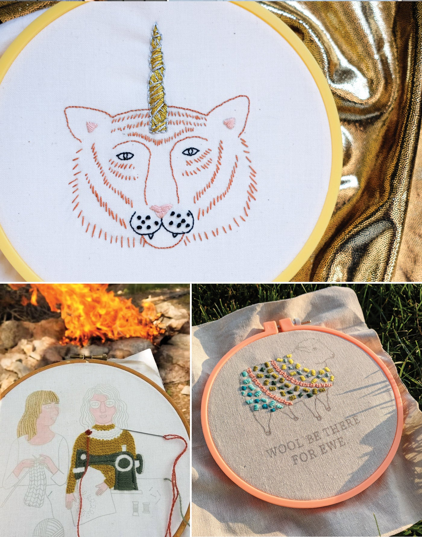 Fancy Tiger Crafts Embroidery Pattern Teaser