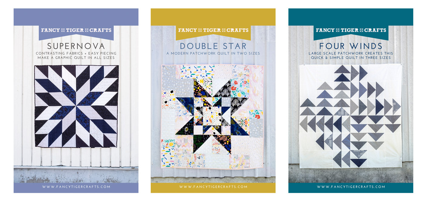 Supernova, Four Winds and Double Star Quilt Patterns