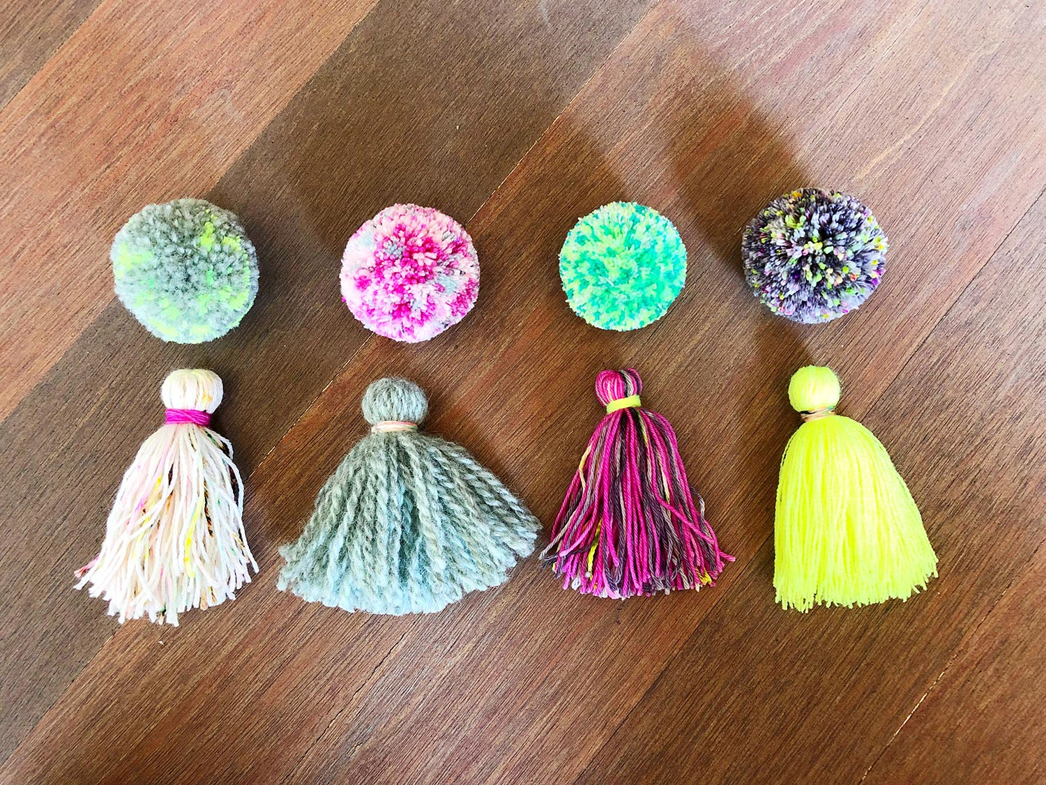 Pom Pom Tassel Tutorial From The Neon Tea Party Fancy Tiger Crafts