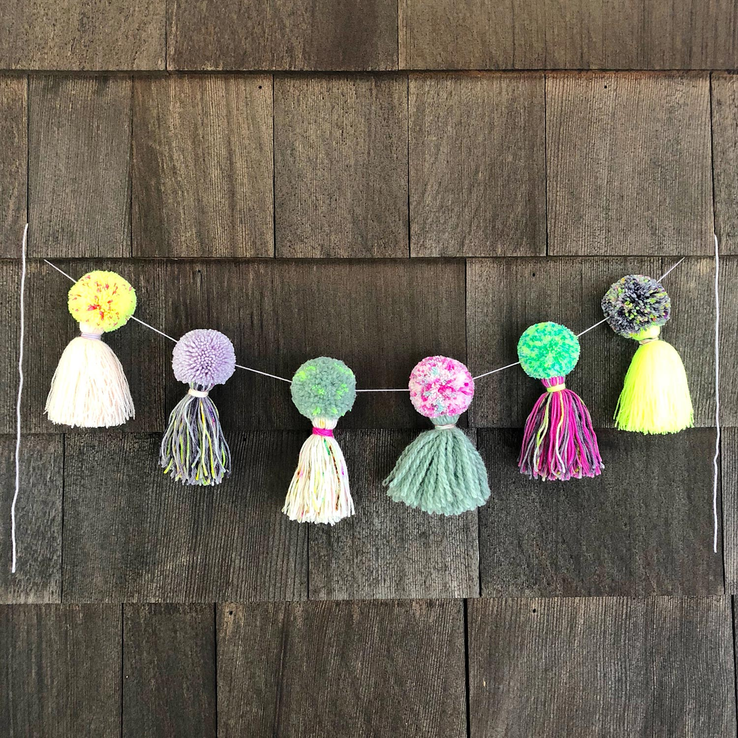 The Neon Tea Party Pom Pom Garland