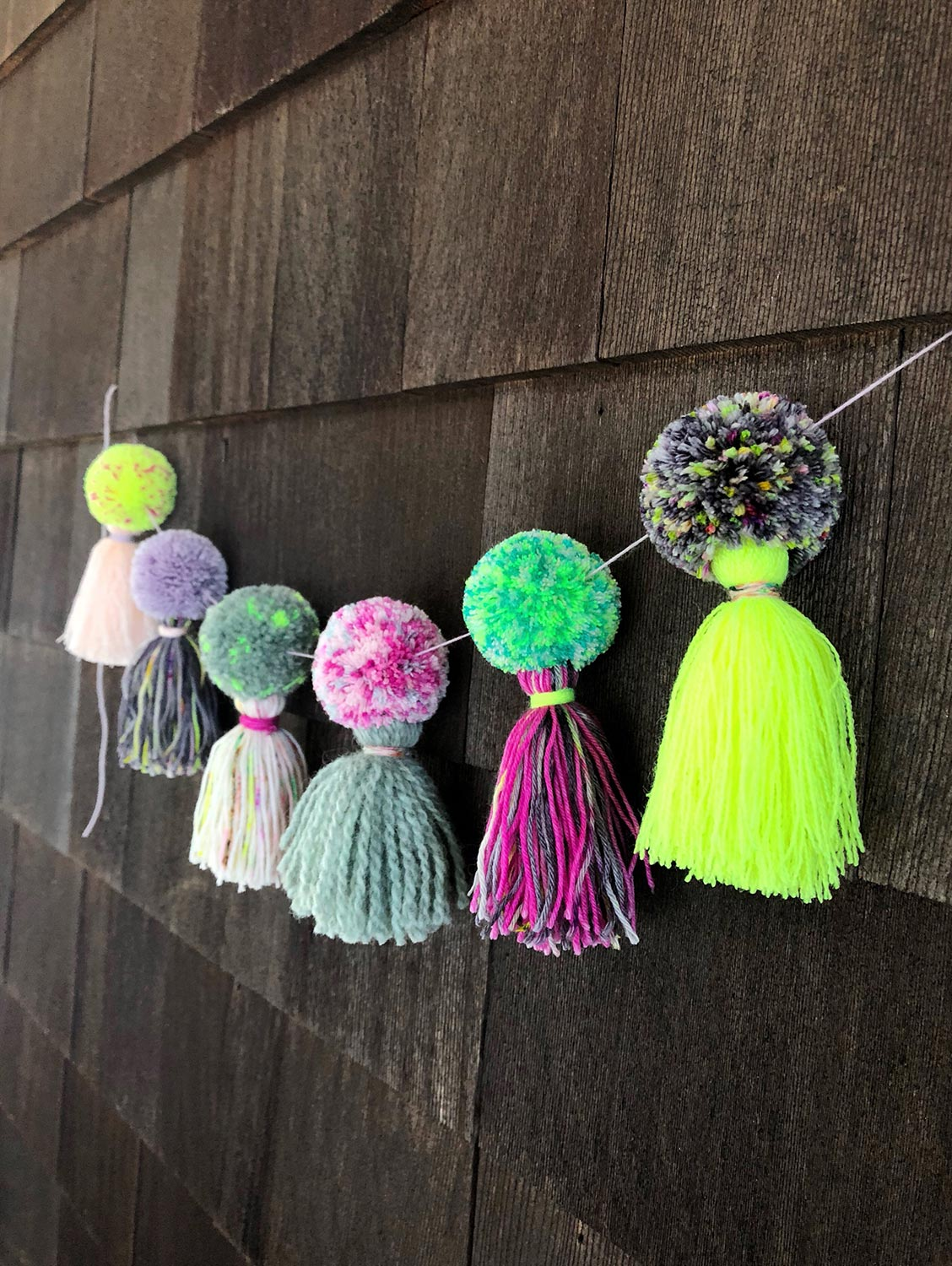 The Neon Tea Party Pom Tassel Tutorial