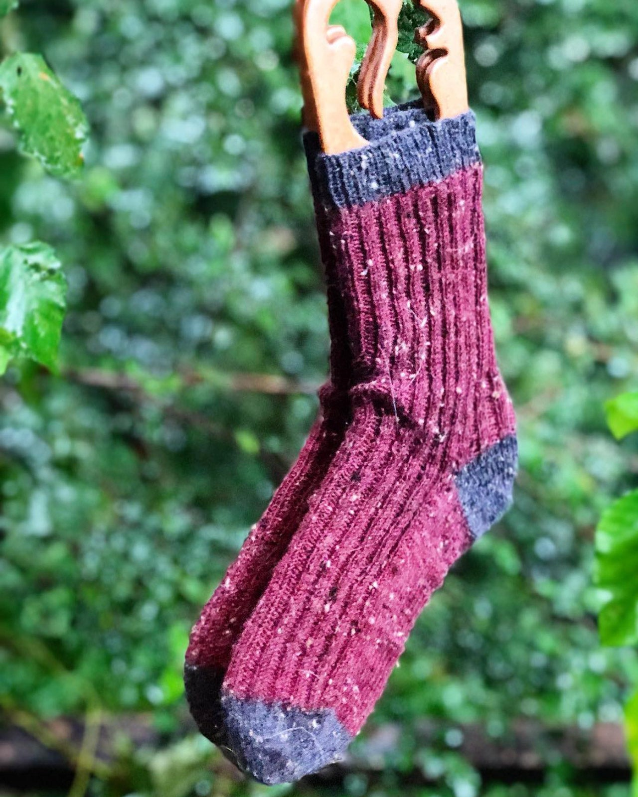 Basecamp Socks in Hue Loco Tweed Sock
