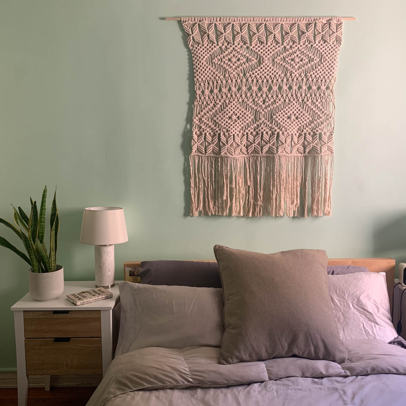 Macrame and bed