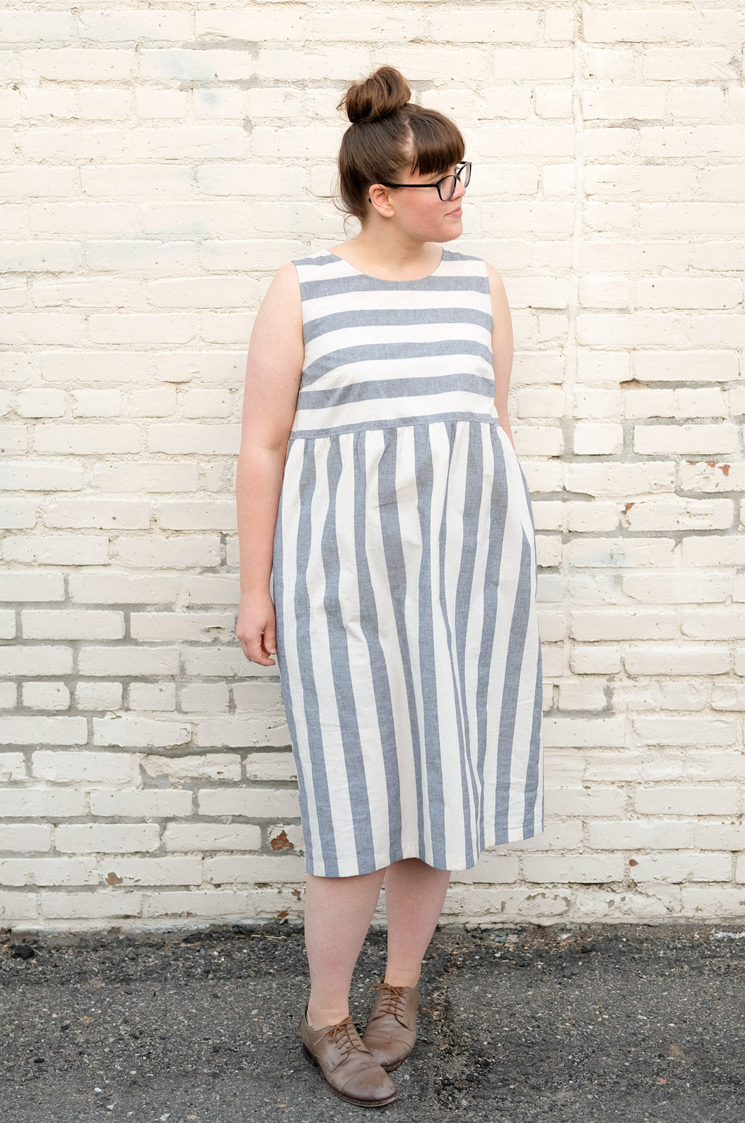 Gathered Willow dress length