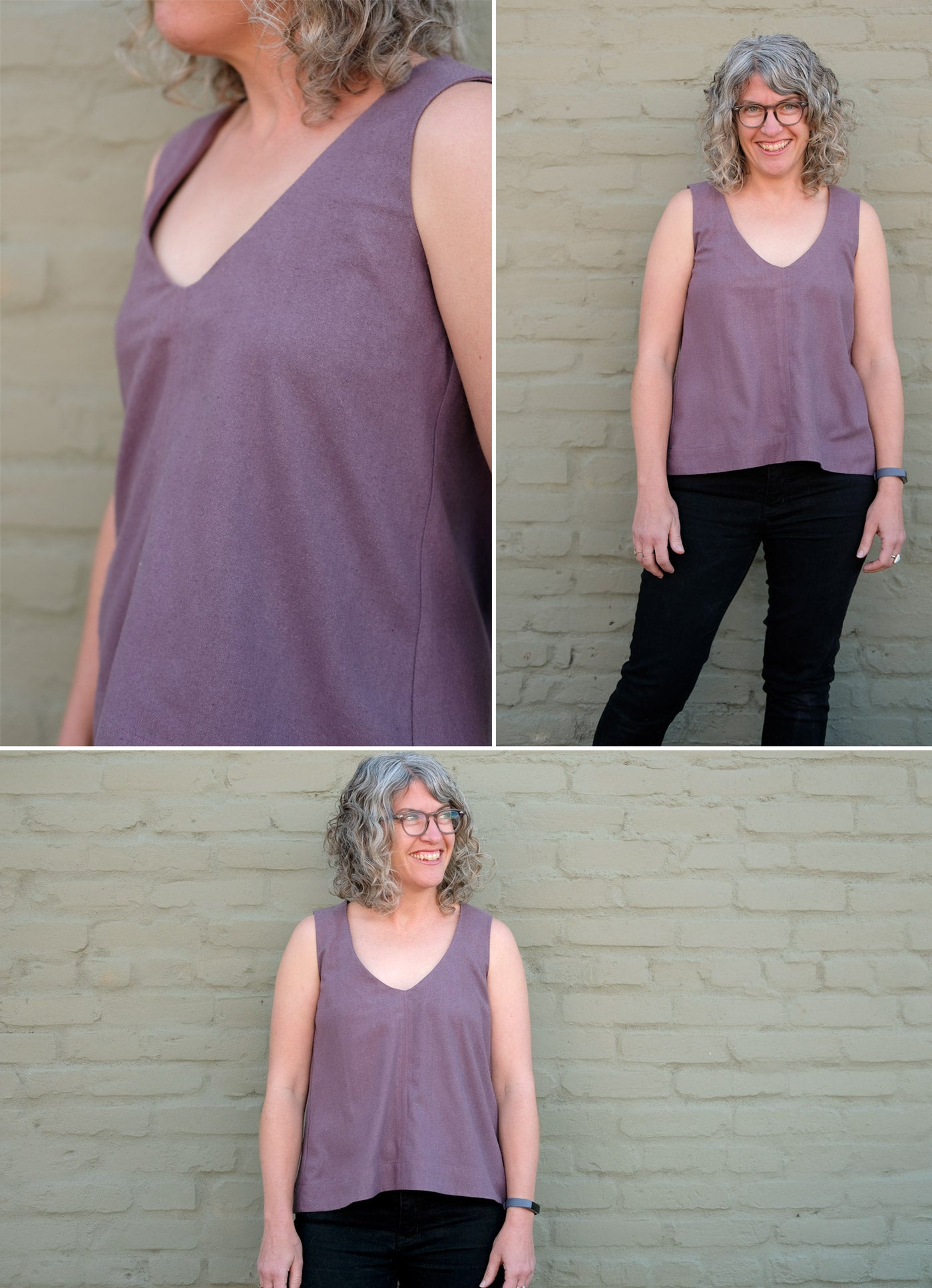 Darts removed from the Grainline Studio Hadley Top