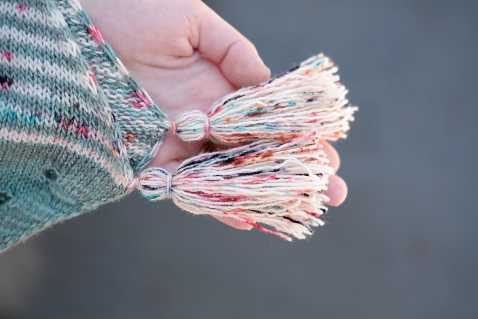 Tassles from the Purl Soho tutorial