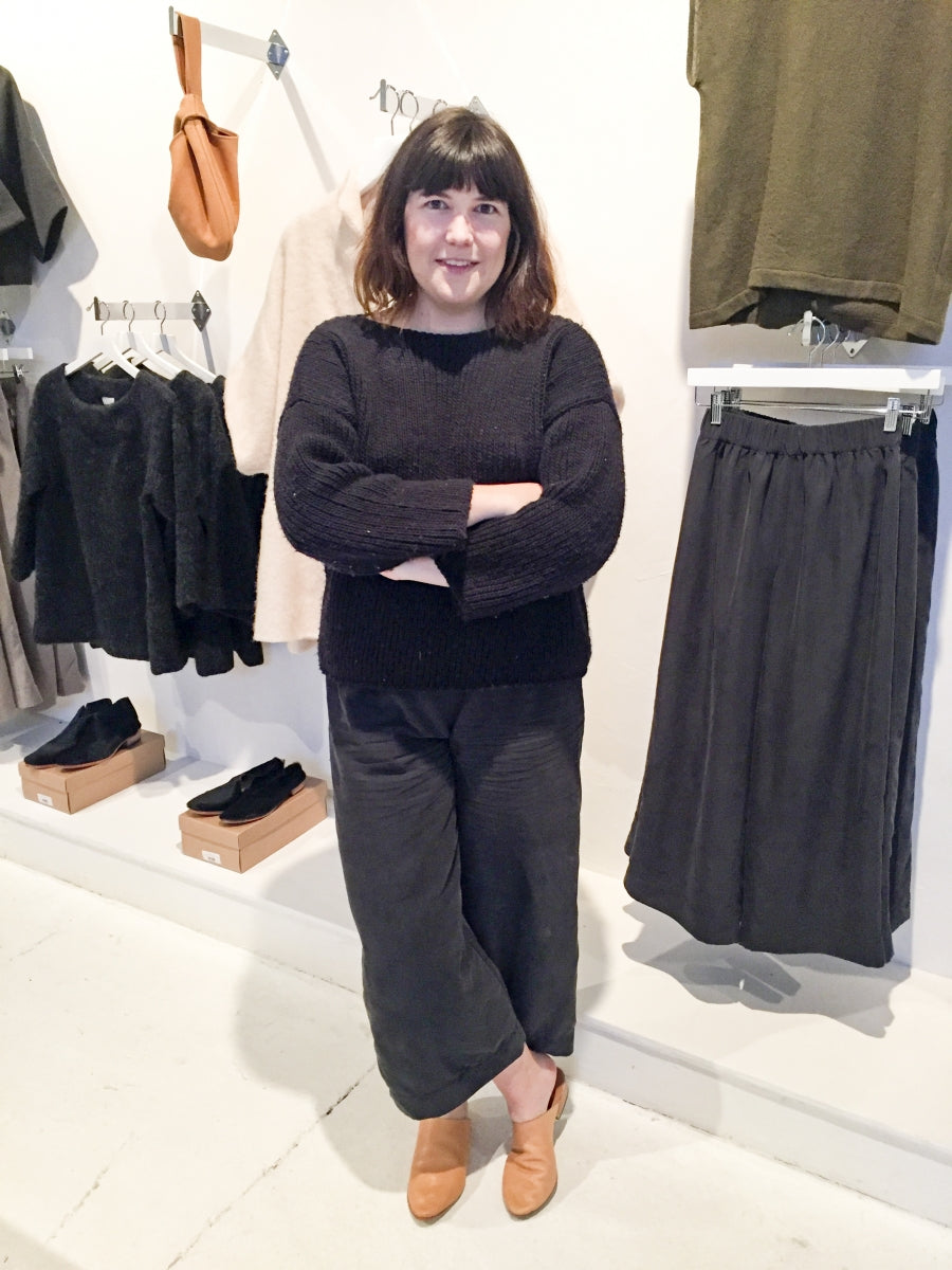 ec58e81b332b All of the clothes are manufactured at her studio by a small team of of  people who cut and sew each piece to order. Everything from the production  methods ...