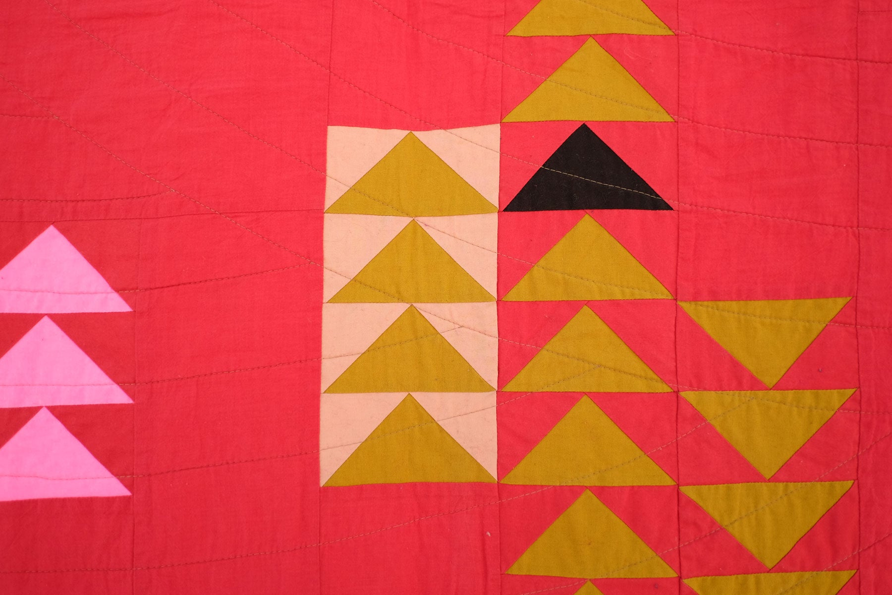 Detail of Shawna Doering's Red Hot Quilt