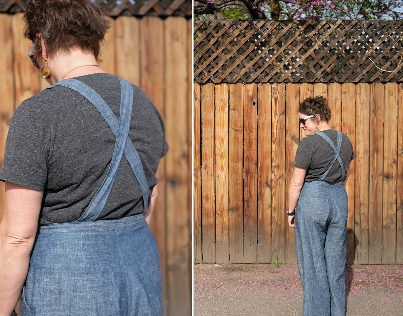 Back View of the Jenny Overalls
