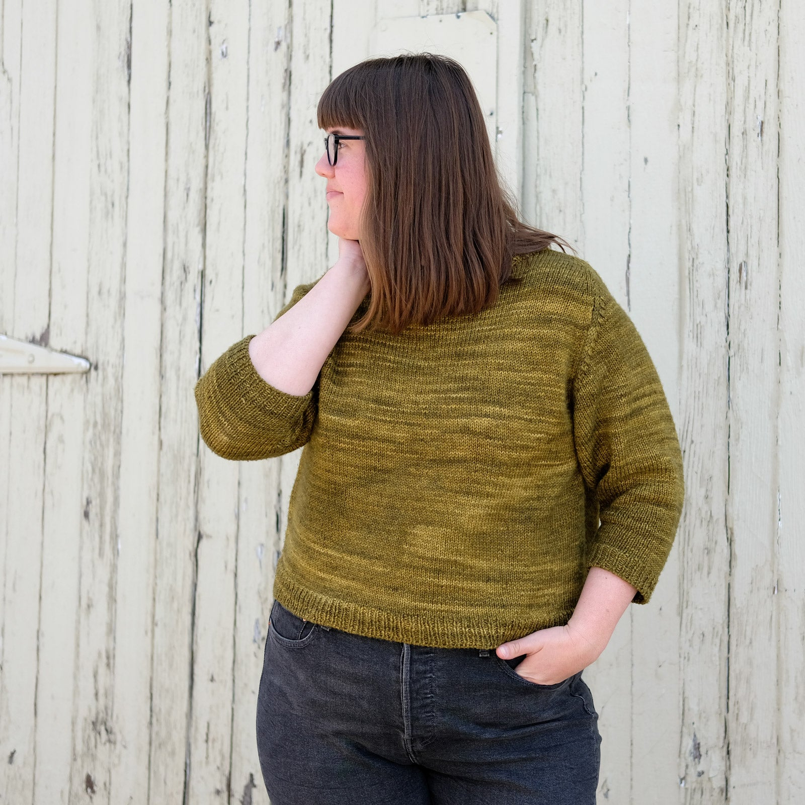 Julie Hoover's 3/4 sleeve pullover, Cline