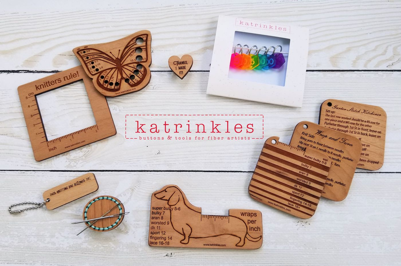 Katrinkles logo and accessories