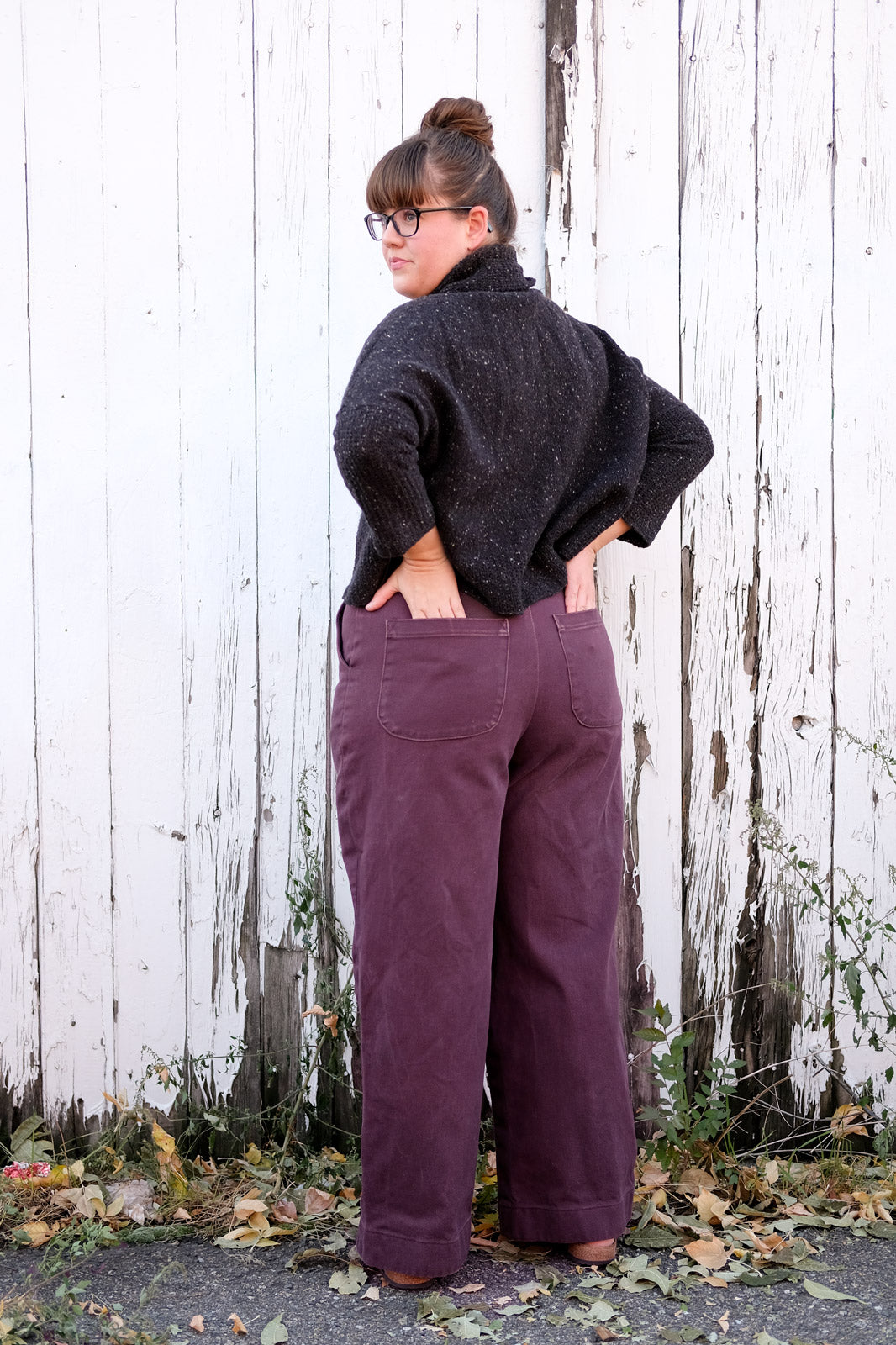 Back view on the Robert Kaufman Jenny Trousers