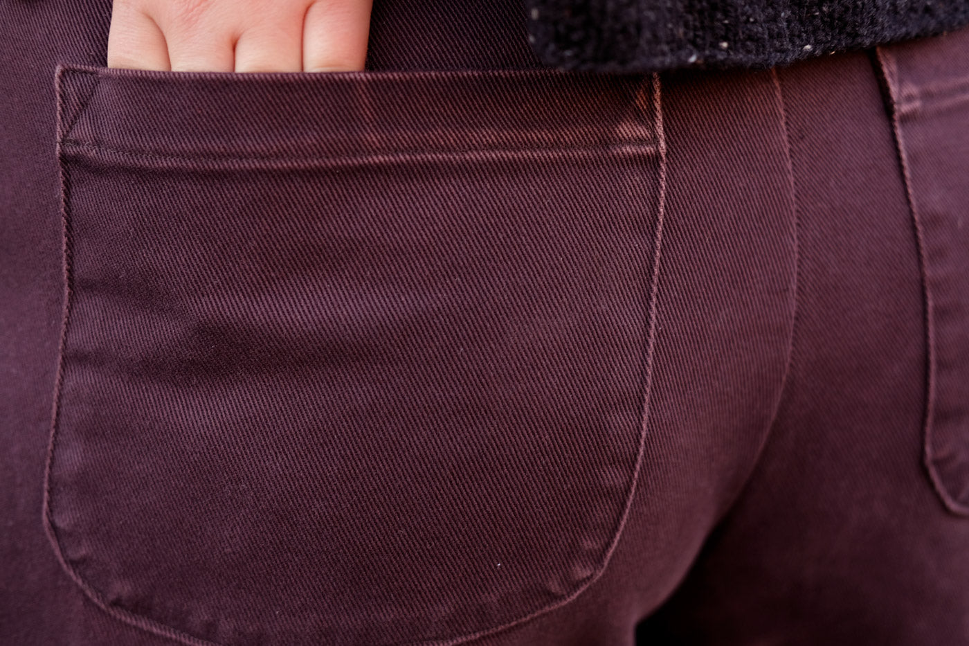 Back Pocket Detail on Jenny Trousers by Closet Case Patterns