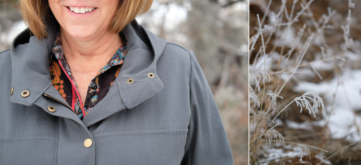 Neckline of the Kelly Anorak by Closet Case Patterns