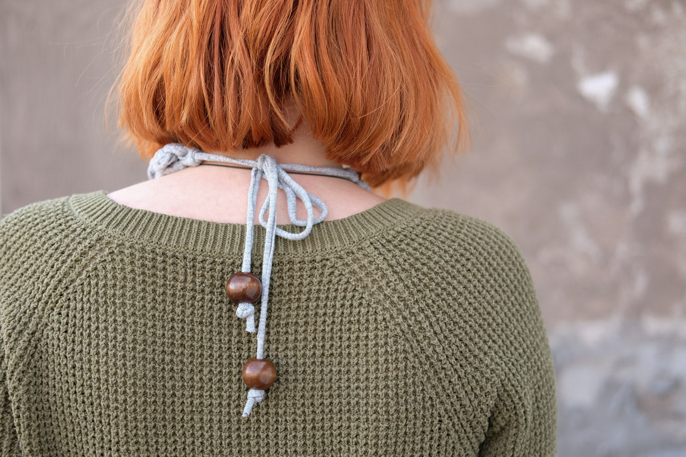 Back of the Knitting Me Softly Necklace