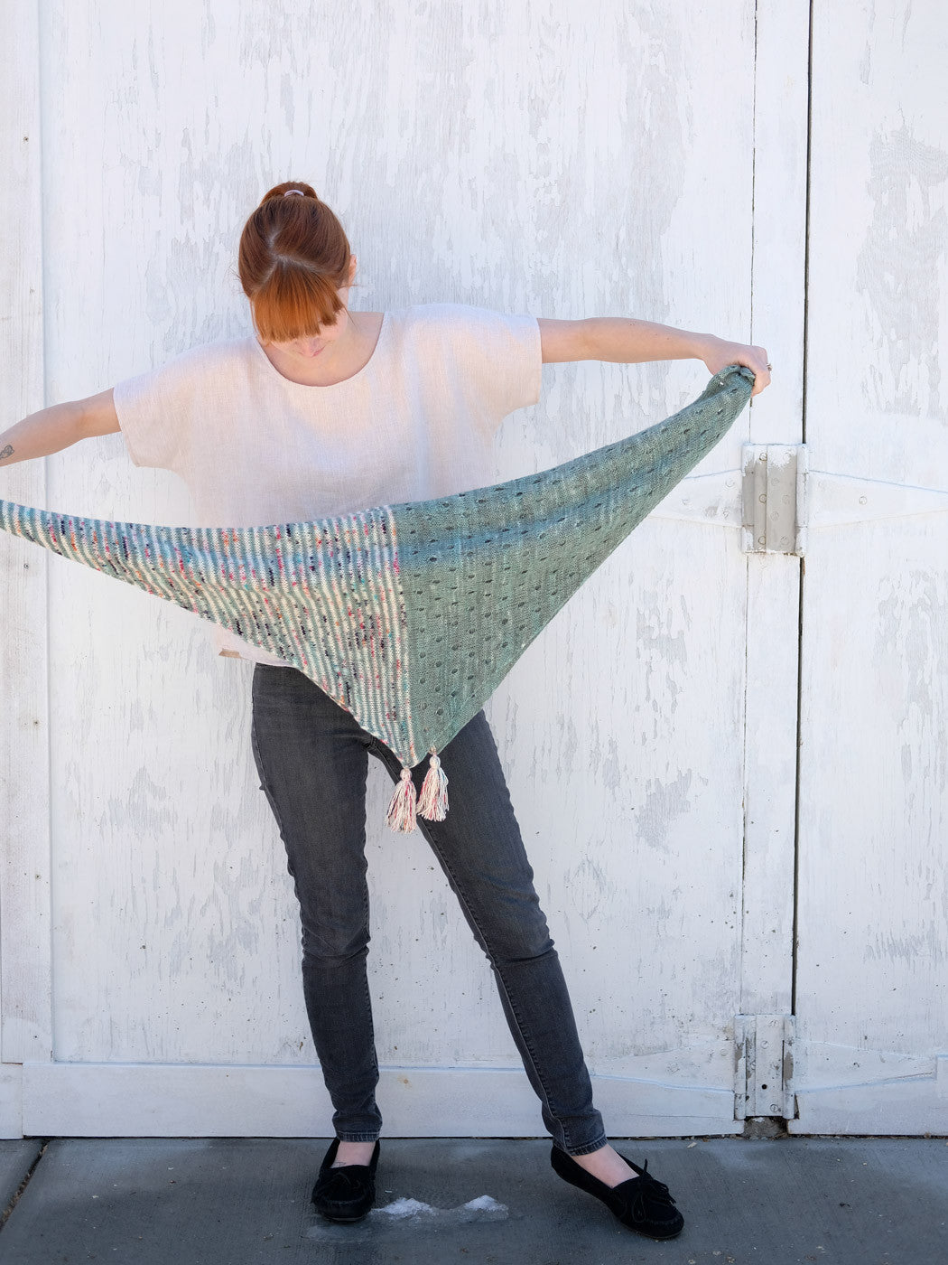 Smaller sized April Fool Shawl
