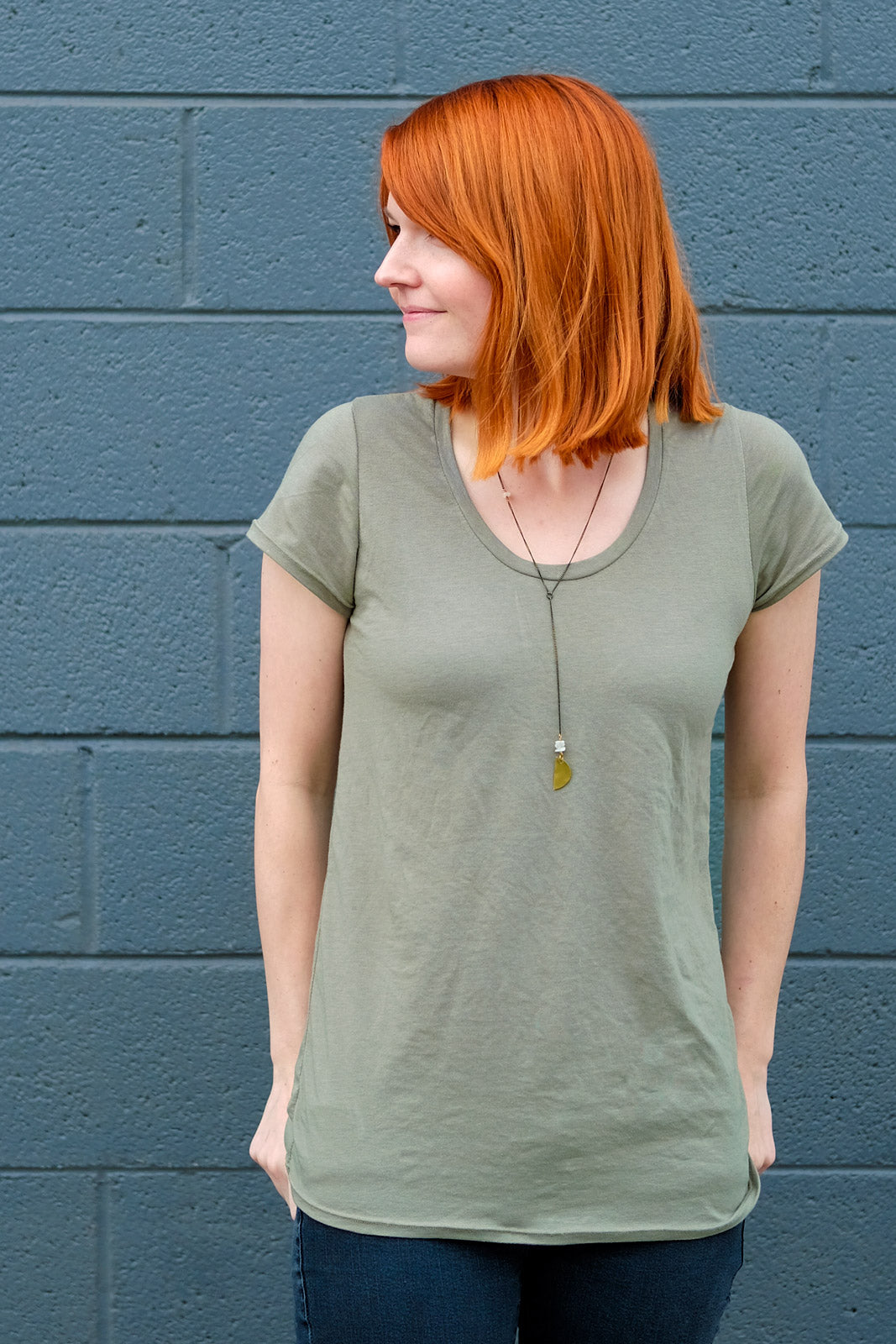Straight Stitch Designs Montlake Tee made in Bamboo Cotton Jersey