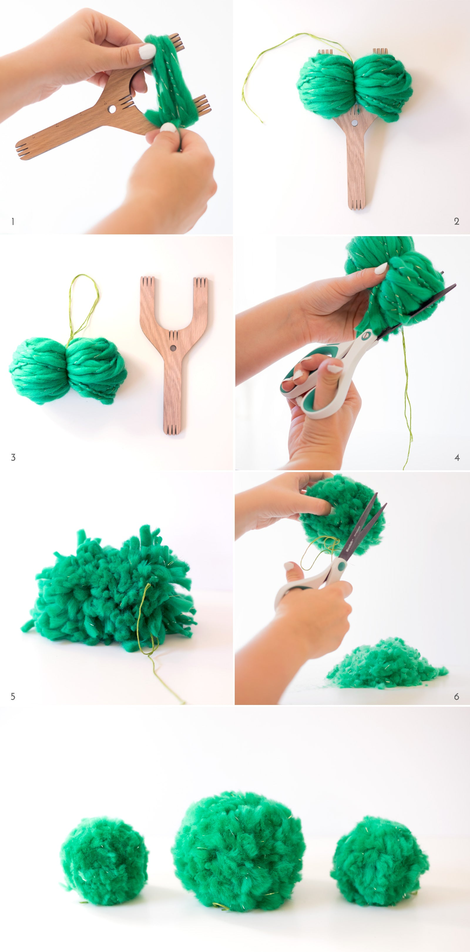 How to use a Loome to make a pom-pom