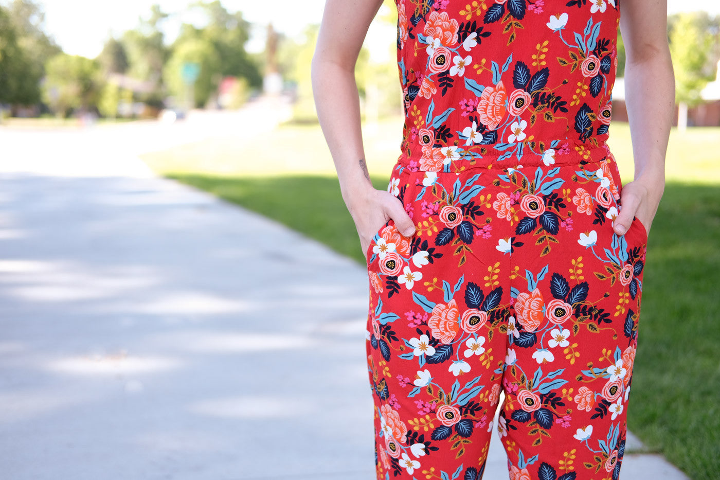 Marigold Jumpsuit in Rifle Paper Co. Rayon