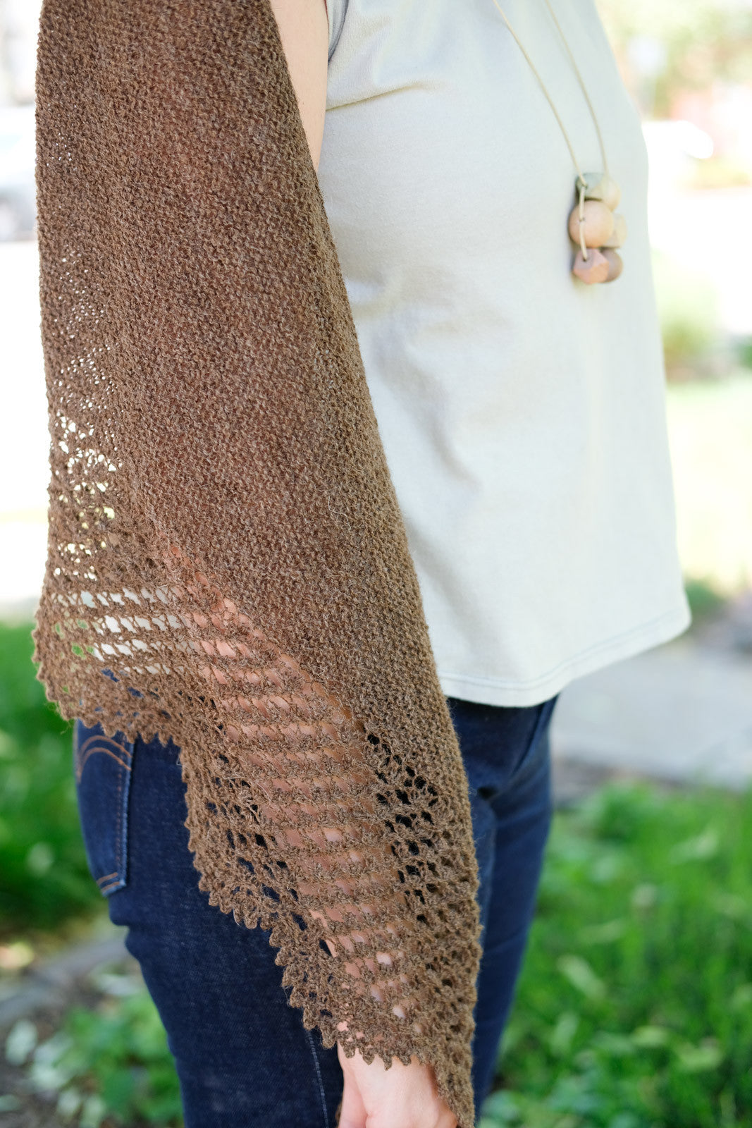 Meadowsweet Shawl in Jamieson & Smith Shetland Supreme 2-ply Lace