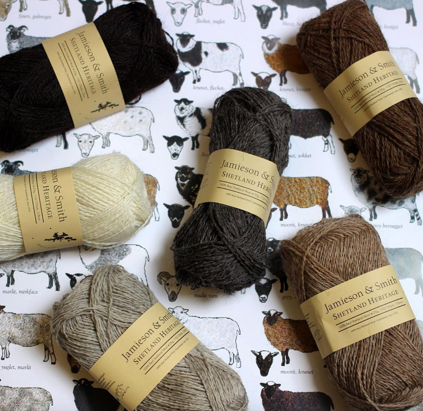 Jamieson and Smith Natural Color Yarns