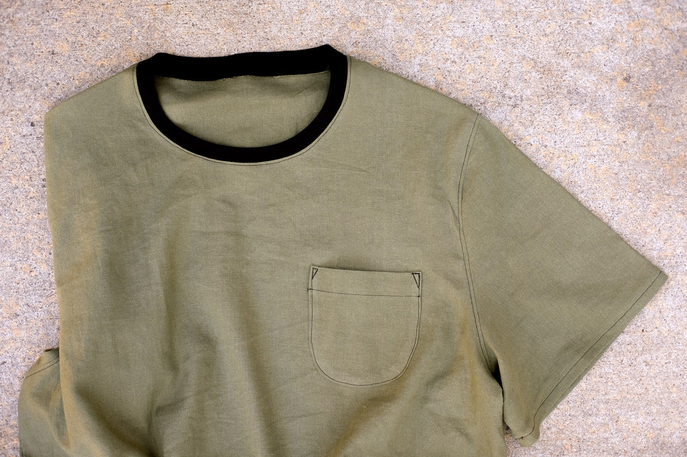 OD Green Brussels Washer The Tee Shirt by Merchant & Mills