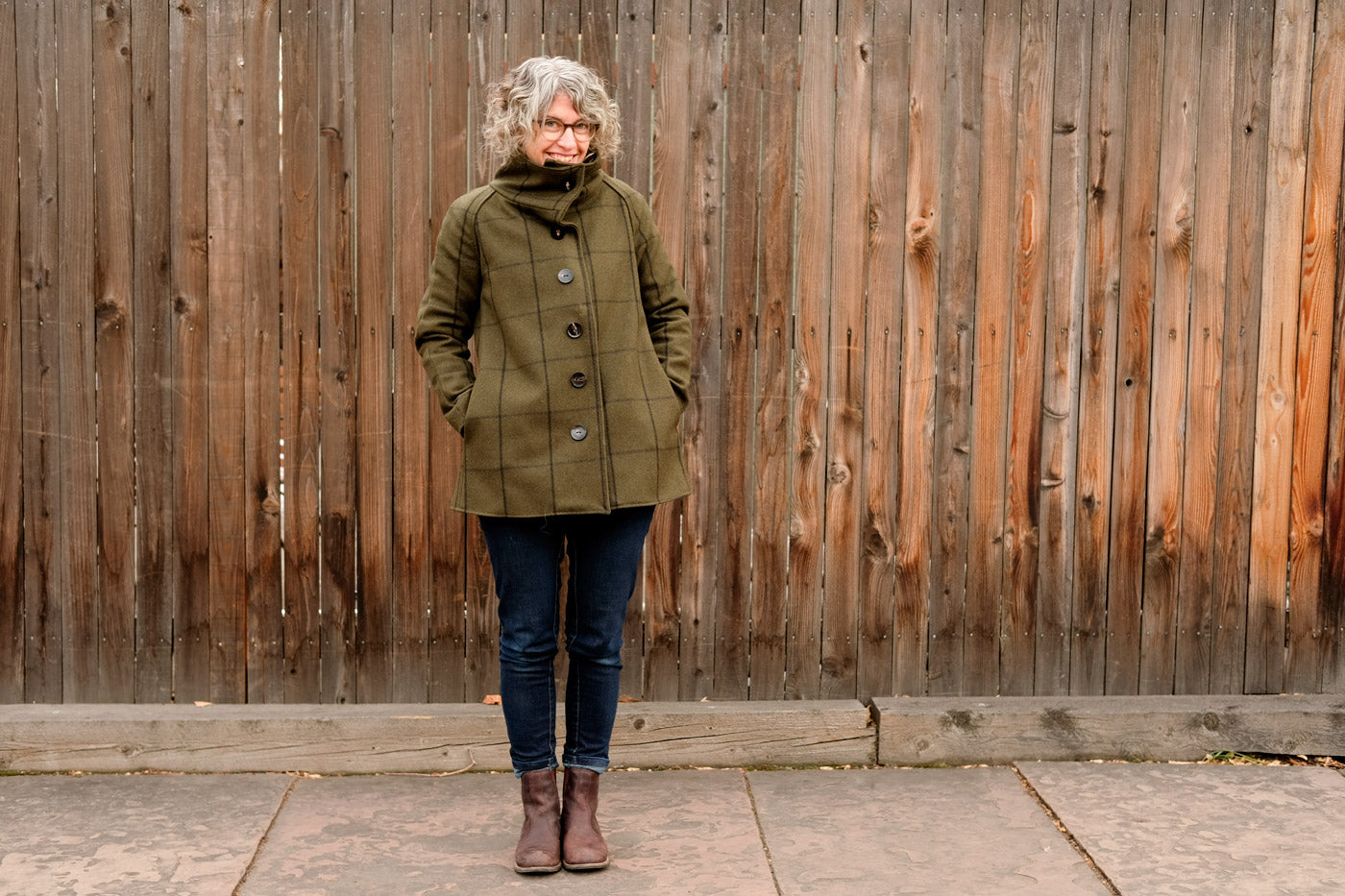 Jaime's Clare Coat in Pendleton Shirting