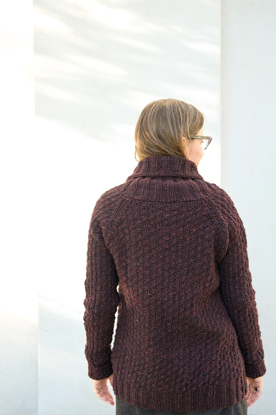 Back View of the Oxbow Cardigan