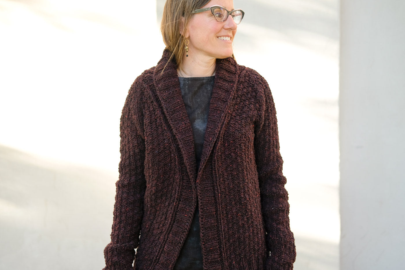 Andrea Mowry Oxbow Cardigan in Brooklyn Tweed Quarry