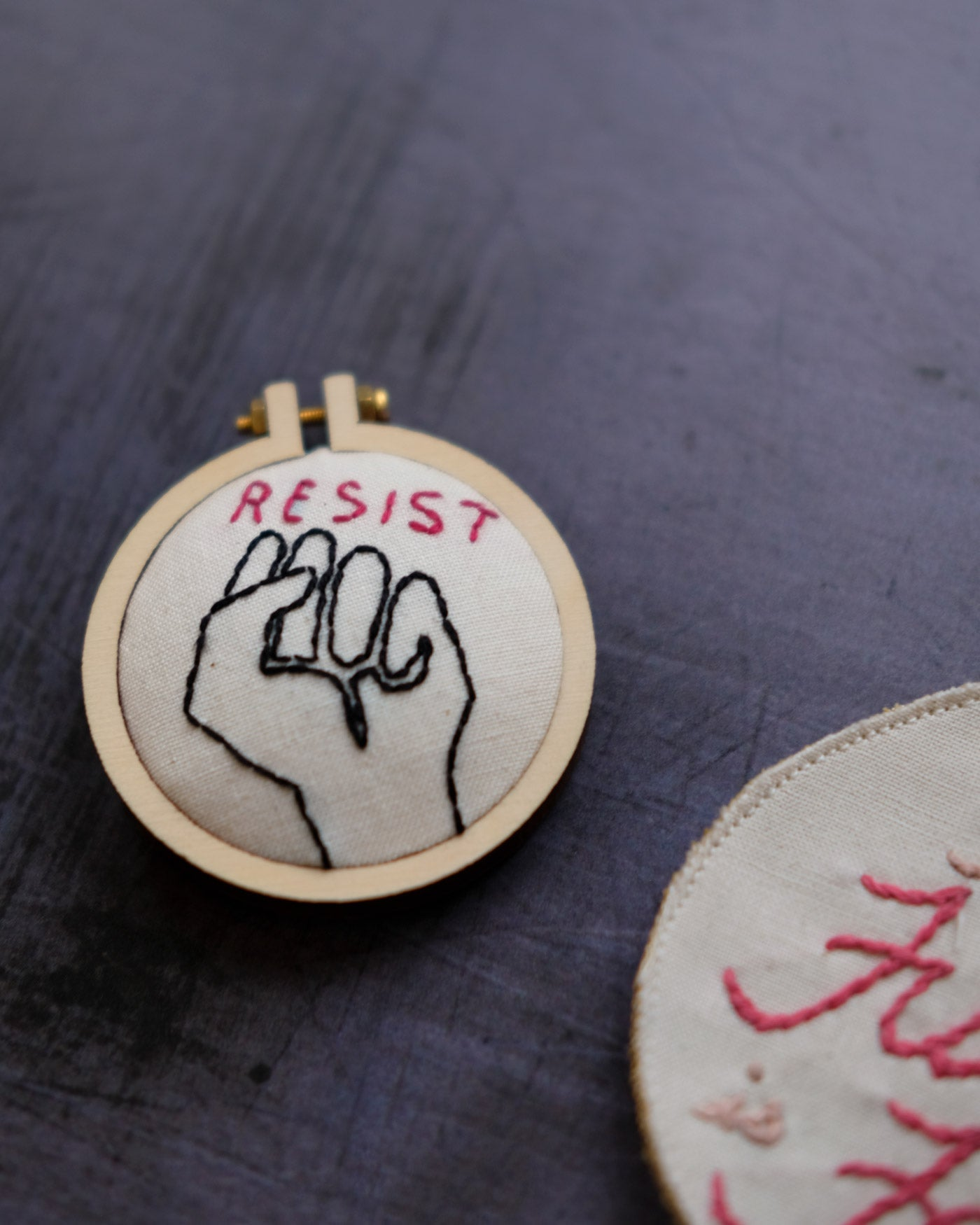 Resist Embroidery