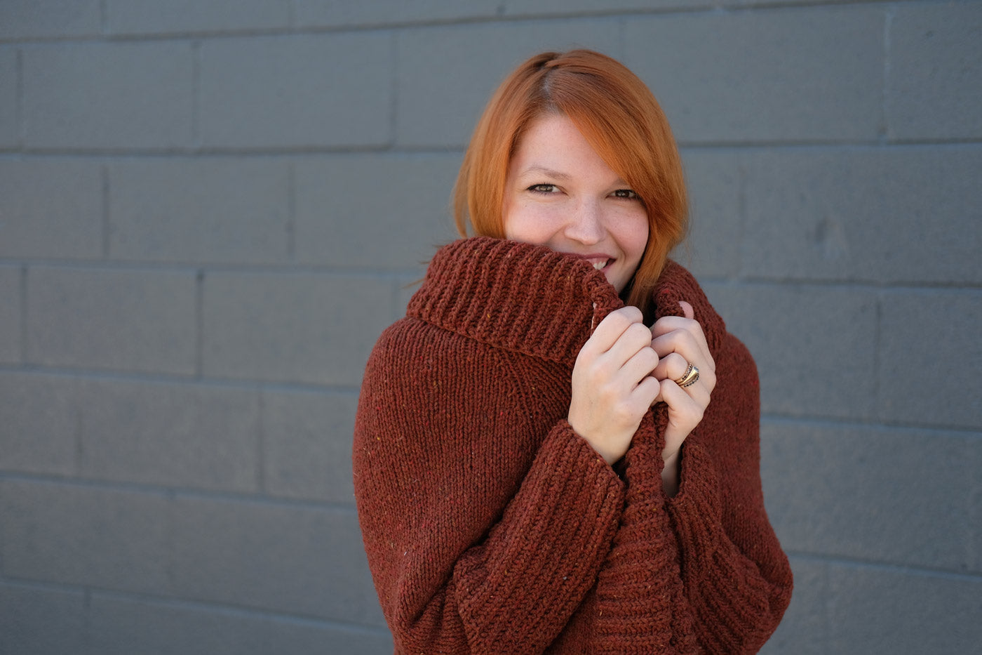 Brioche Collar on the Ronan Cardigan
