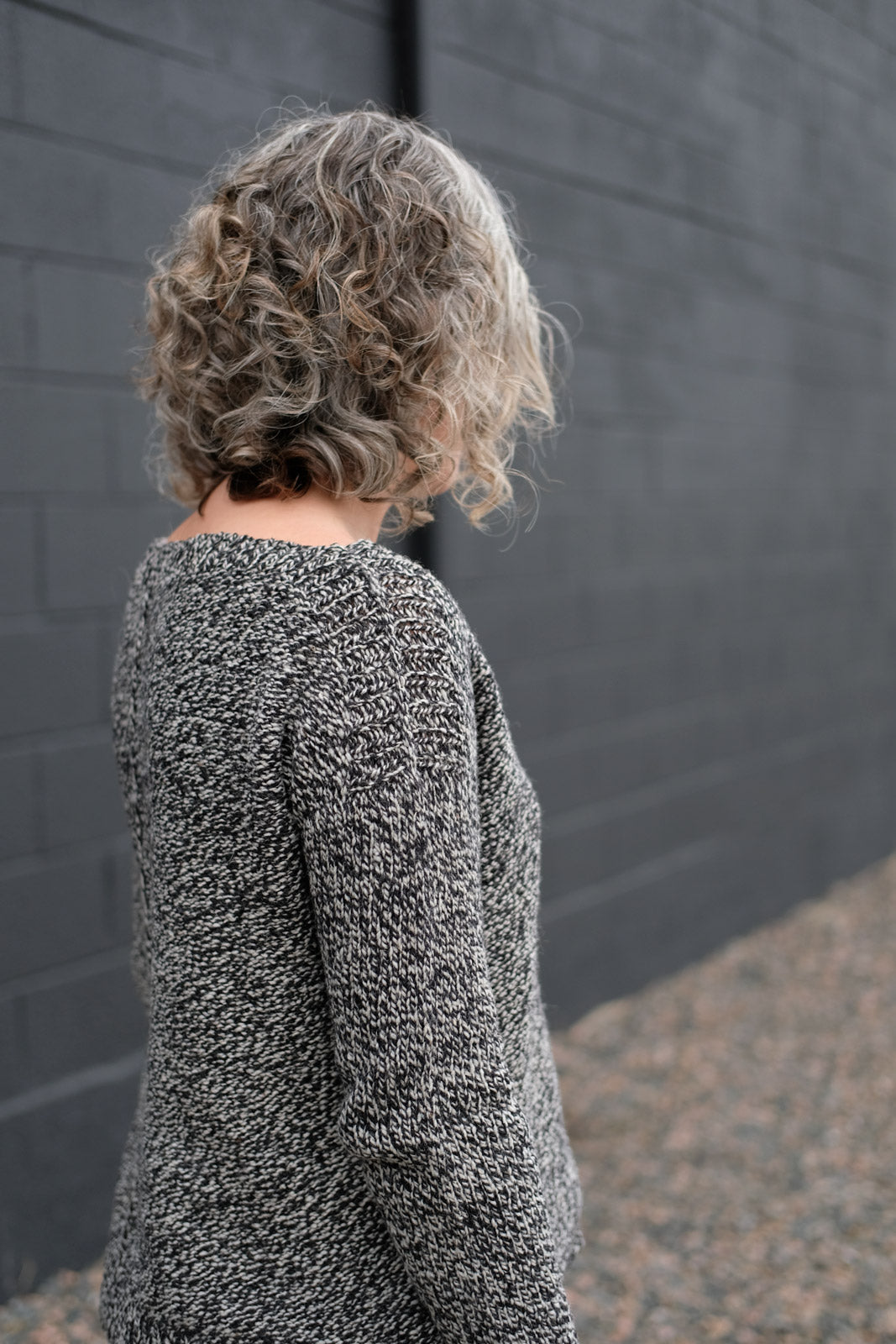 Back view of Jaime's Weekender Sweater