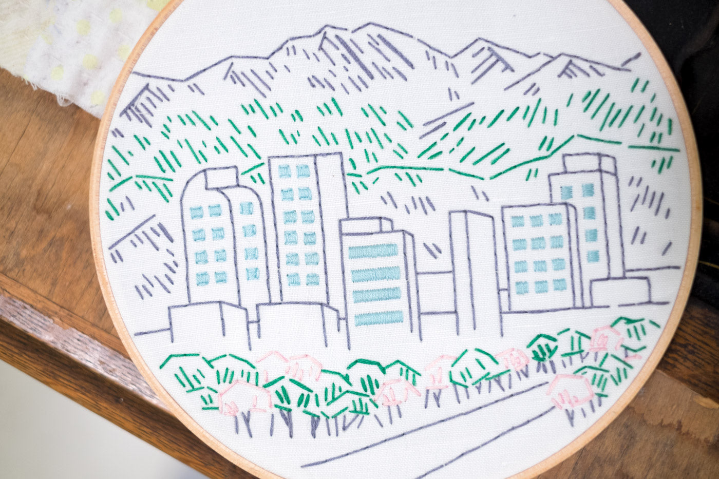 Studio MME Denver Skyline Embroidery