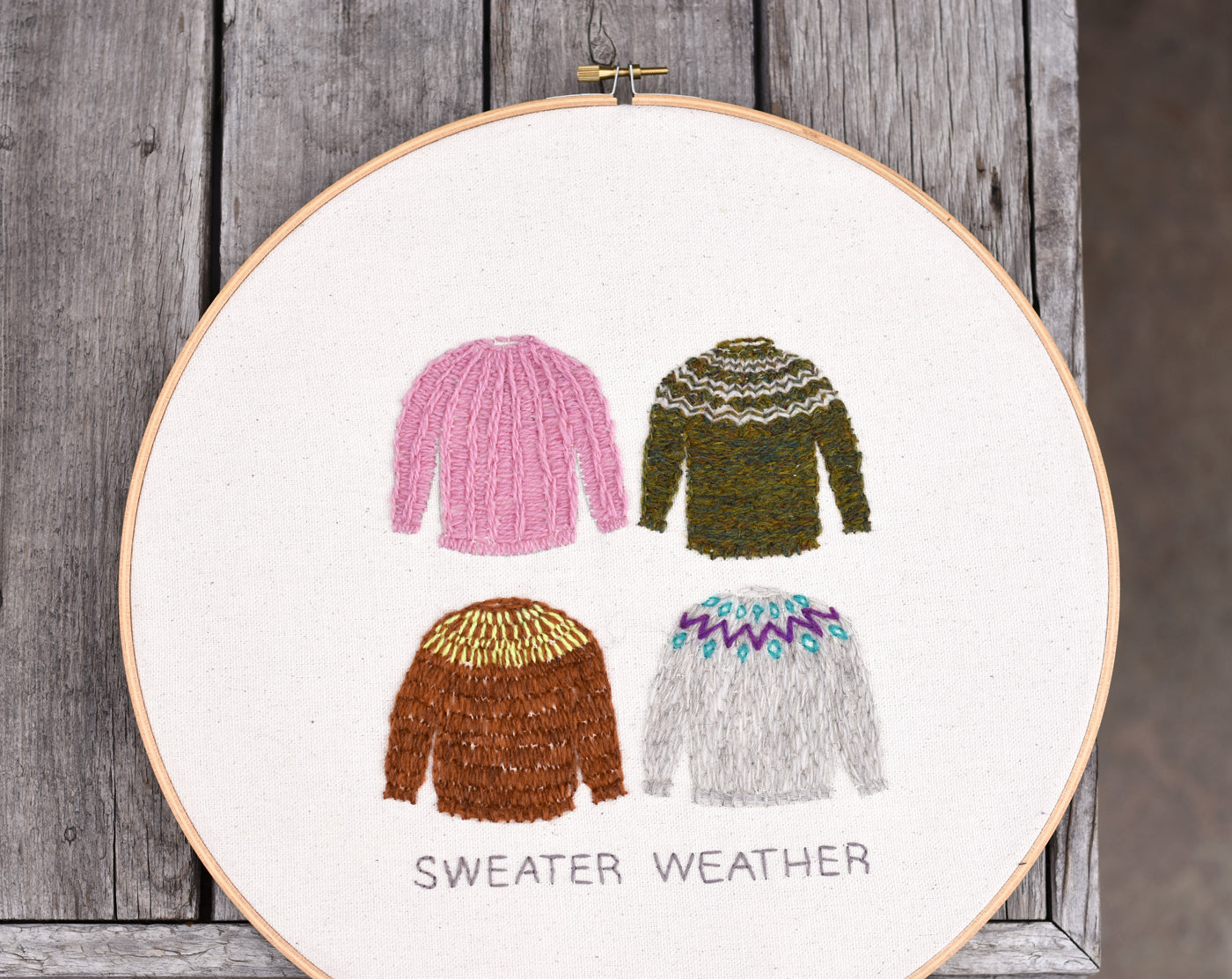 Sweater Weather Embroidery
