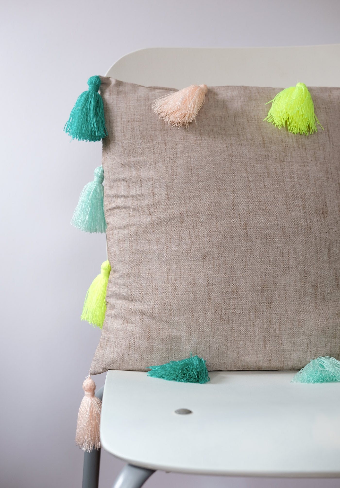 Tassel Pillow with OmegaCryl