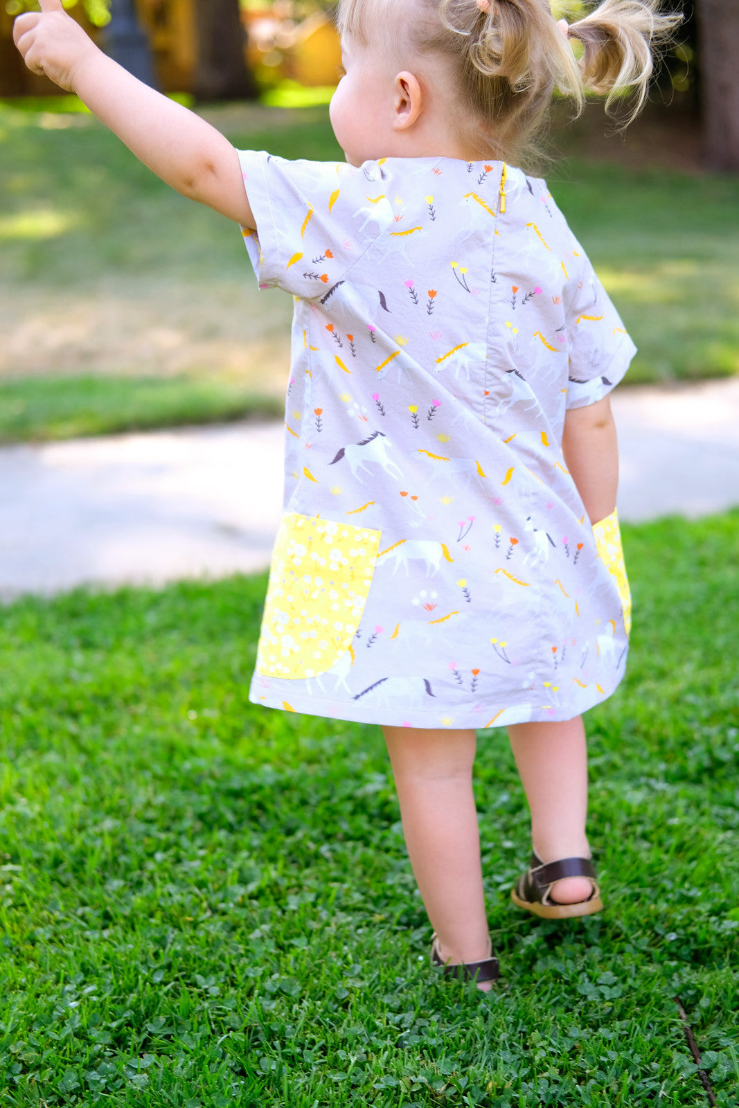 The Avid Seamstress Raglan Dress from Behind