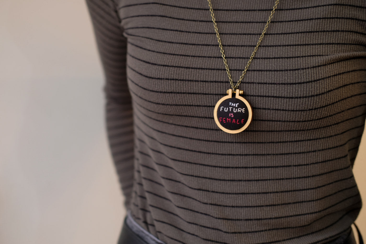The Future is Female Necklace