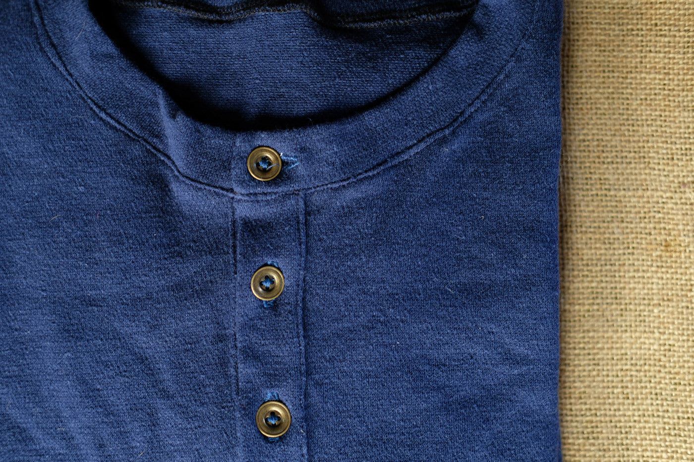 Detail of the Henley button placket