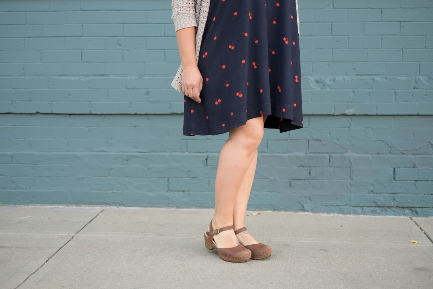 High-Low hem on Trapeze Dress