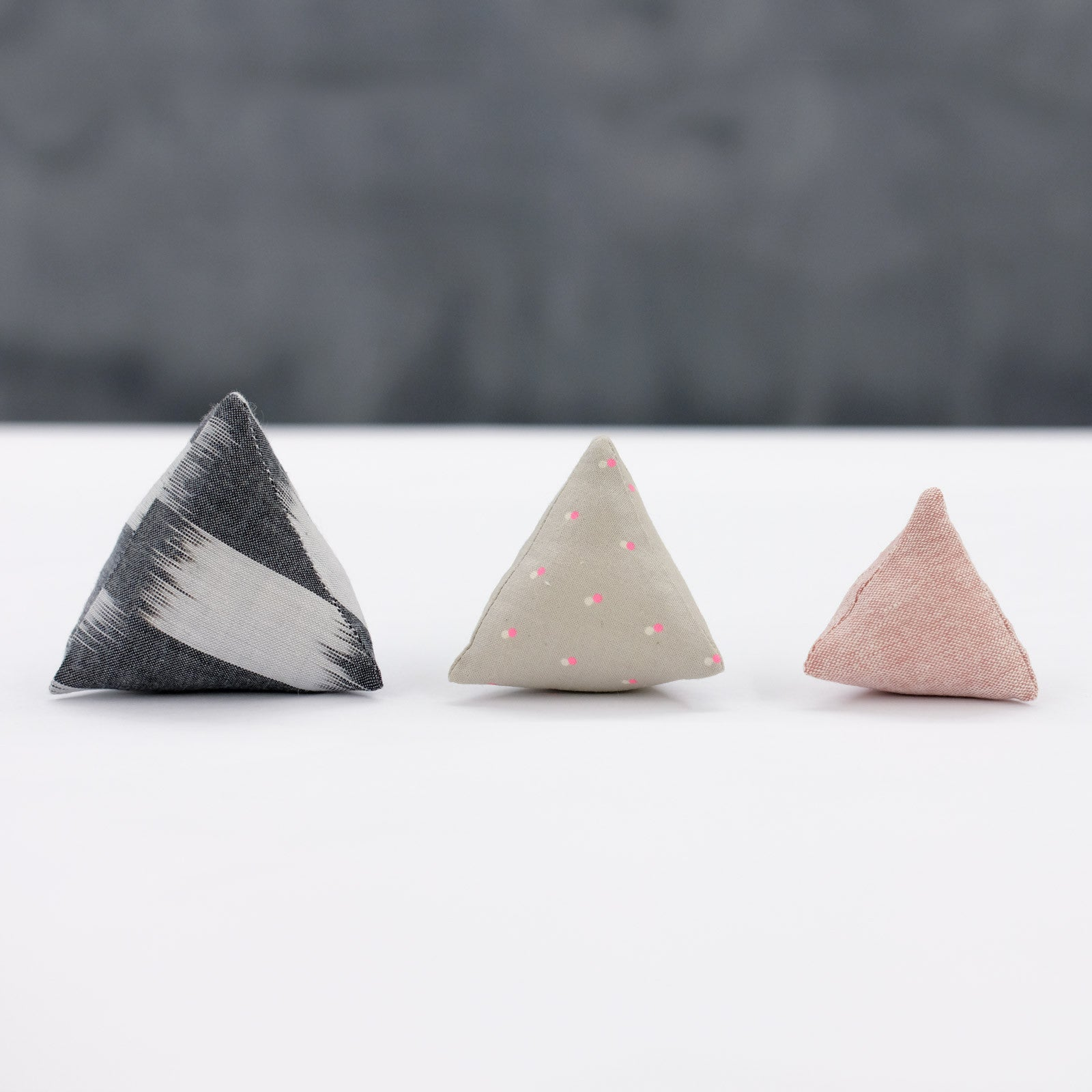 Three Sizes of Triangle Pin Cushions