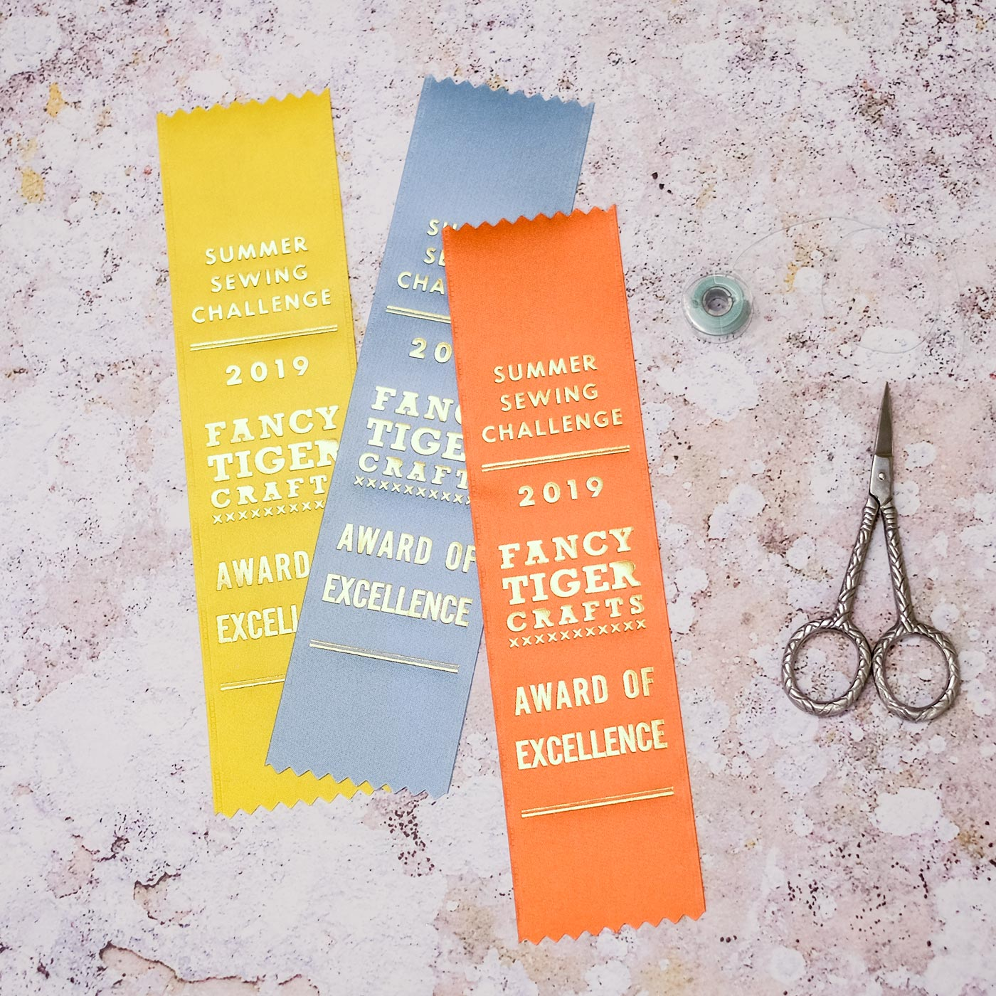 Ribbon prize for sewing challenge