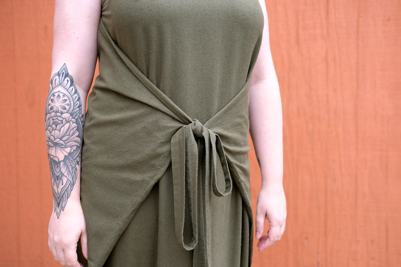 Kielo Wrap Dress Detail