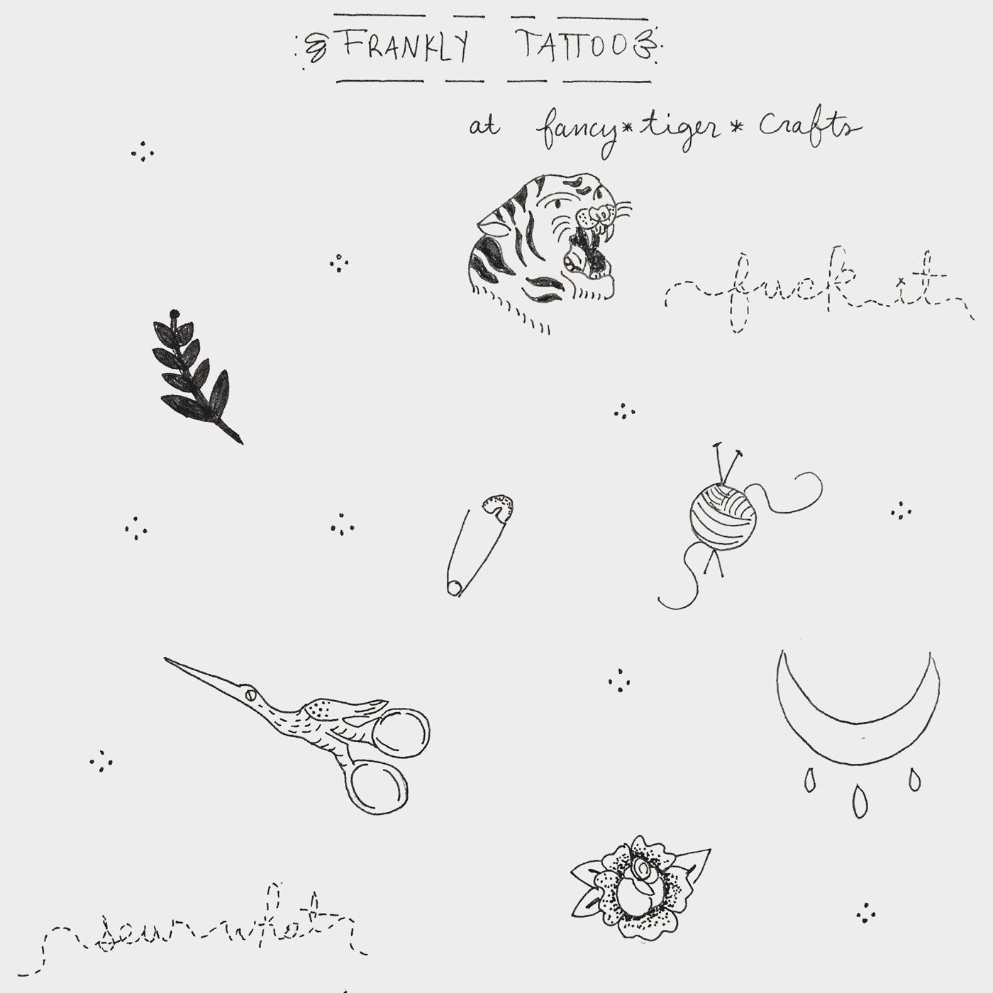 flash tattoo sheet