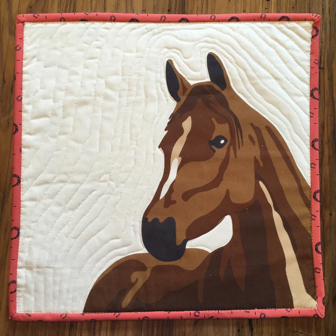 quilt portrait large horse a fabric block introduction id of