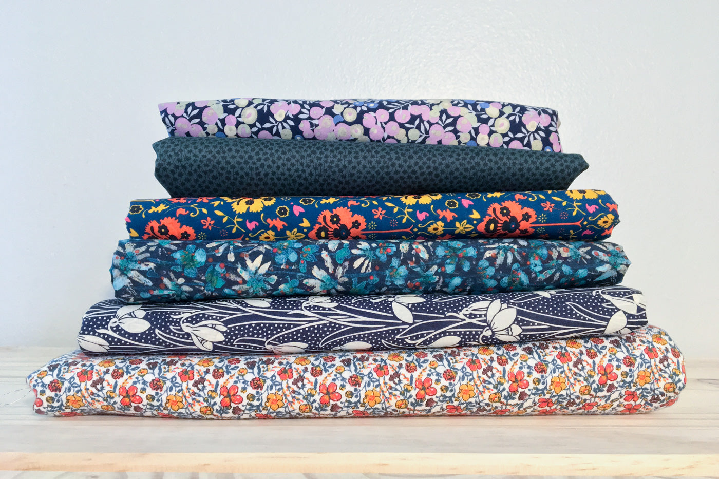 Stack of Liberty of London Fabrics